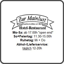 Logo Hotel Restaurant Zur Mainlust